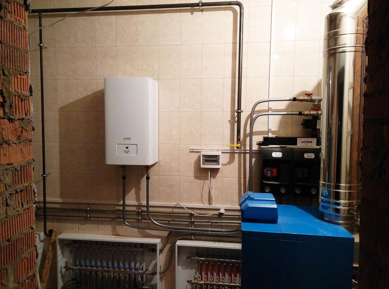 Схема отопления частного дома с газовым котлом: подключение
